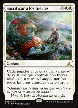 Sacrificar a los fuertes / Slaughter the Strong