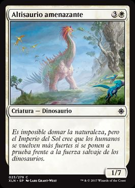 Altisaurio amenazante / Looming Altisaur