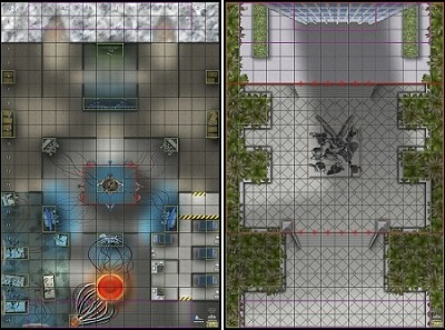 Mapa N.O.W.H.E.R.E. Arctic Base / Teen Titans Tower Grounds