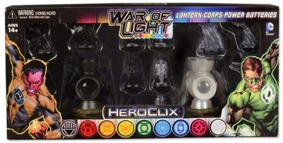 War of Light - Lantern Corps Power Batteries Black & White