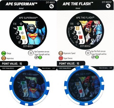 D17-B001 - Ape Superman / Ape The Flash (pack de 2)