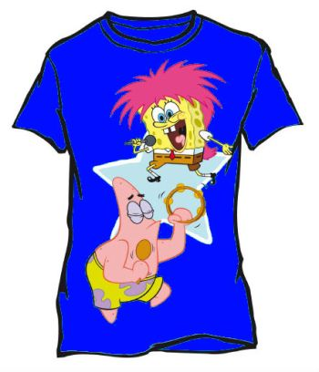 Sponge Bob: T-Shirt - Rock - Blue (Size 8)