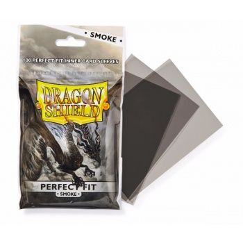 Dragon Shield - Perfect Fit Sleeves - Clear/Smoke (100)