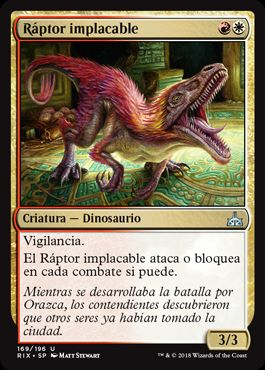 Ráptor implacable / Relentless Raptor