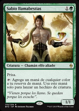 Sabio llamabestias / Beastcaller Savant