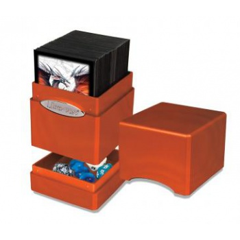 Ultra Pro - Deck Box Satin Tower - Hi-Gloss Pumpkin