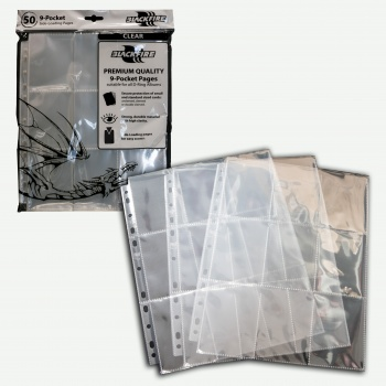 Blackfire - 9 Pocket Pages - Clear - Top Loading (50 pcs)