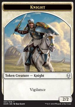 Token Caballero / Knight Token Nº001