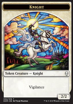 Token Caballero / Knight Token Nº002