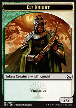 Token caballero elfo / Elf Knight Token