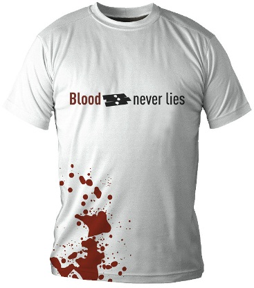 Dexter: T-shirt - Blood Never Lies - White (Size L)
