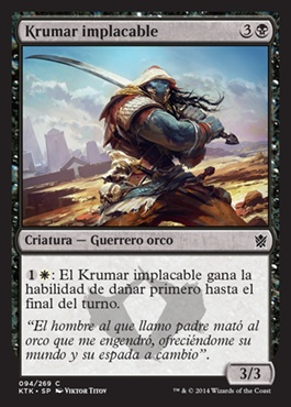 Krumar implacable / Unyielding Krumar