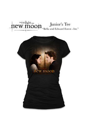 Twilight: T-shirt New Moon - Girl - Black (Size S)
