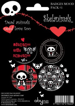 Skelanimals: Pack de 4 chapas Mod.1