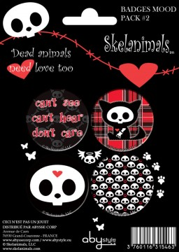 Skelanimals: Pack 4 Button Badges Mod.2