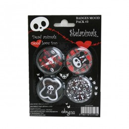 Skelanimals: Pack 4 Button Badges Mod.3