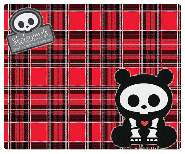 Skelanimals: Mouse Pad Family Tartan