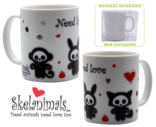 Skelanimals: Taza Need Love 320ml