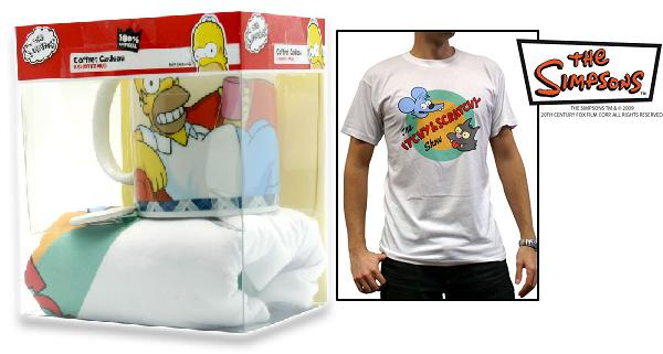 The Simpsons: Pack T-shit+Mug+Badge - Itchy & Scratchy (Size M)