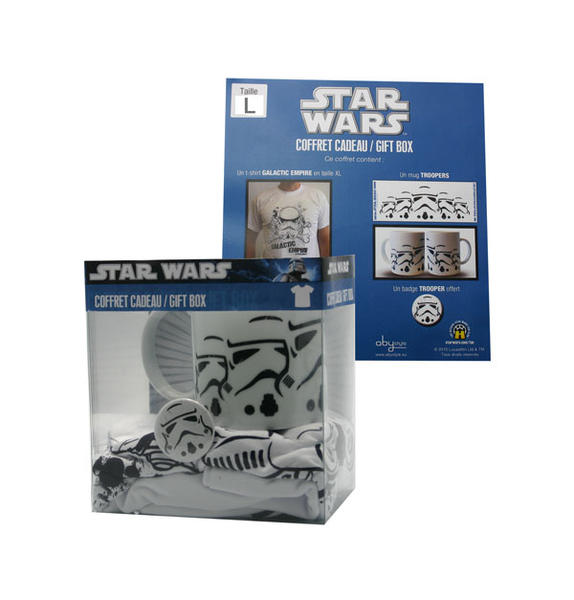 Star Wars: Pack T-shirt + Mug + Badge - Empire - White (Size L)