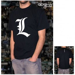 Death Note: Camiseta - L Tribute - Negro (Size M)