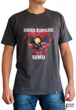 Bleach: T-Shirt - Ichigo Bankai - Dark Grey - (Size L)