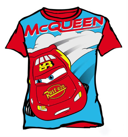 Cars: T-Shirt - McQueen - Red (Size 4)