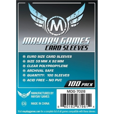Mayday: Euro Card Sleeves 59x92mm (100)
