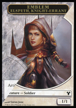 Elspeth Emblem / Soldier Token